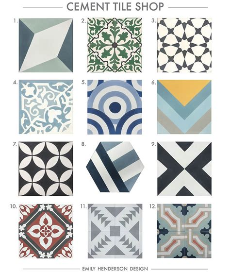 accent tiles for bathroom where to buy cement tiles emily henderson