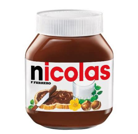 pot nutella personnalis 233 ondine 224 table