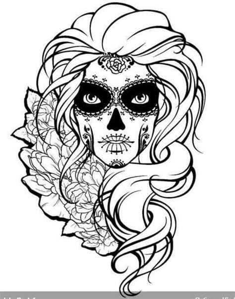 Sugar Skull   Skull coloring pages, Sugar skull tattoos, Coloring books