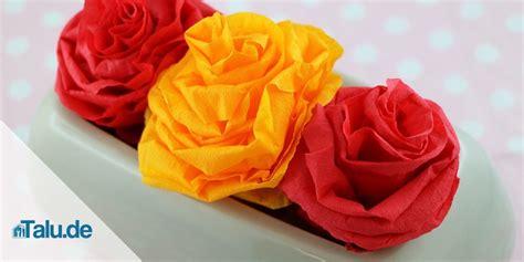 blumen krepppapier anleitung papierblumen selber basteln 5 ideen talu de
