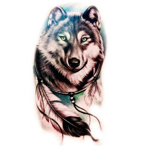 tatoo temporaire attrape reve loup