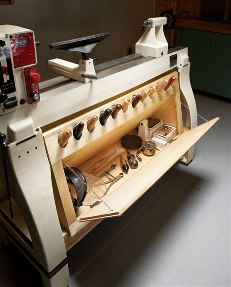 double duty lathe cabinet popular woodworking magazine