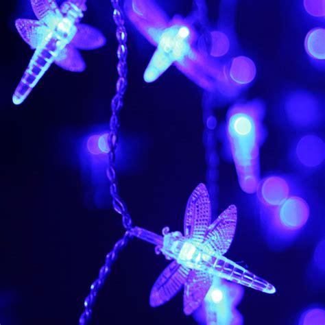 solar dragonfly led string light lighting