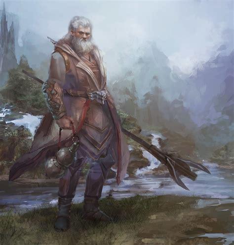 ArtStation - old wizard, oldman pushcar