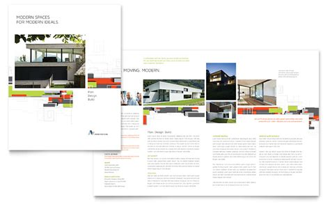architectural design brochure template word publisher