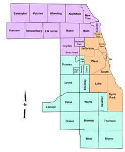 Cook County Illinois Township Map