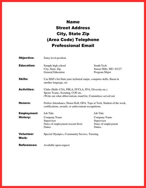 Basic Resume Exles For by Resume Sle Skills Resume Format