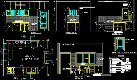 kitchen full details dwg detail  autocad designs cad