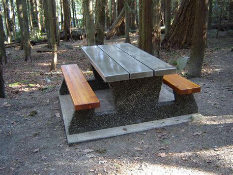 precast concrete picnic tables federal parks style picnic table mackay precast products