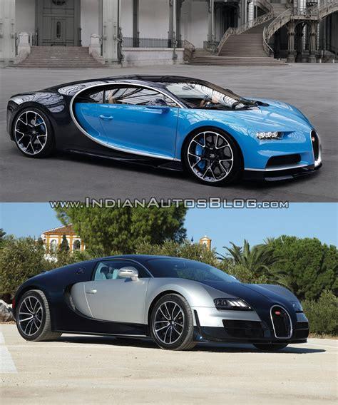 Vs Bugatti by Bugatti Chiron Vs Bugatti Veyron Front Three Quarters
