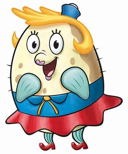 Puff Spongebob Mrs Characters Transparent Fanon Happy