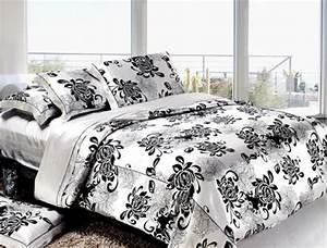 Housse De Couette Noir Et Blanc : la housse de couette soie une touche de luxe dans votre maison ~ Teatrodelosmanantiales.com Idées de Décoration