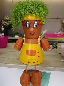 Creation Avec Des Pots De Fleurs : bonhomme pot de fleurs ~ Melissatoandfro.com Idées de Décoration