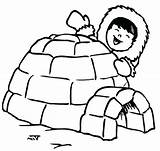 Igloo Coloring Eskimo Pages Drawing Printable Penguin Kid Happy Preschool Template Letter Clipartmag Bulkcolor American Hut Templates Print Sketch sketch template