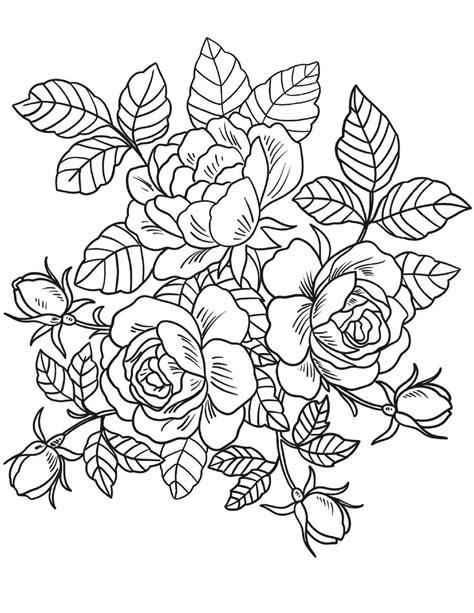 mewarnai bunga ros mawar belajarmewarnai info