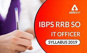 Ibps Rrb So Syllabus For It Officer Professional Knowledge
