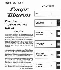 Hyundai Coupe Etm  Electrical Troubleshooting Manual