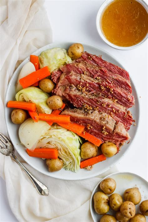A successful corned beef and cabbage supper starts at the grocery store. Corned Beef and Cabbage - The Wooden Skillet