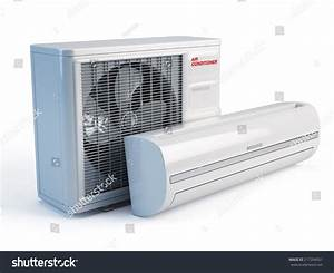 Air Conditioner On White Background Stock Photo 217204051 ...