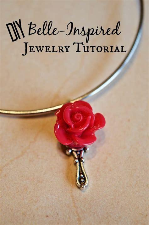 diy belle inspired beauty  beast jewelry tutorial