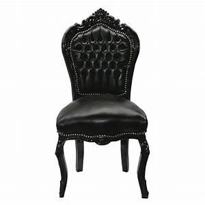 Chaise Baroque Noir : chaise baroque noir cuir louis xv simili cuir noir salle manger gothique ebay int rieur et ~ Teatrodelosmanantiales.com Idées de Décoration