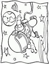Space Outer Coloring Pages Printable Astronauts sketch template