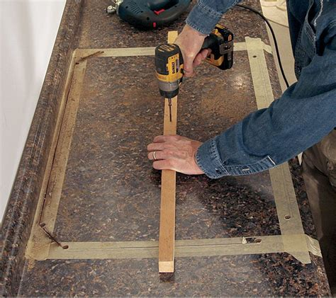 best saw to cut laminate countertop cut a laminate countertop for a sink