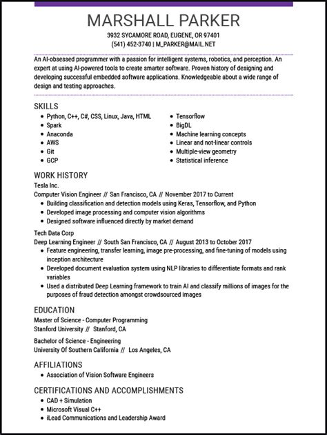 Z Resume by Resume Exles For The Top 5 Z Livecareer
