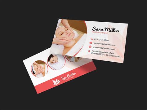 beauty salon spa business card  graphic pick