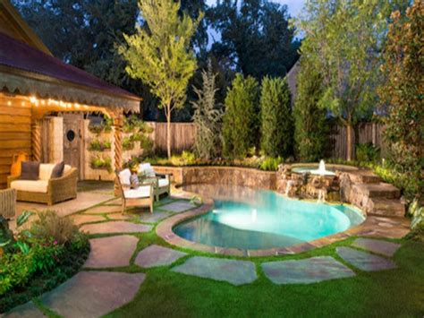 Backyards : Backyard Pool Designs For Small Yards Spectacular Small