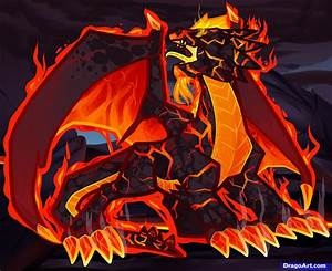 How to Draw a Fire Dragon, Fire Dragon, Red Dragon, Step ...