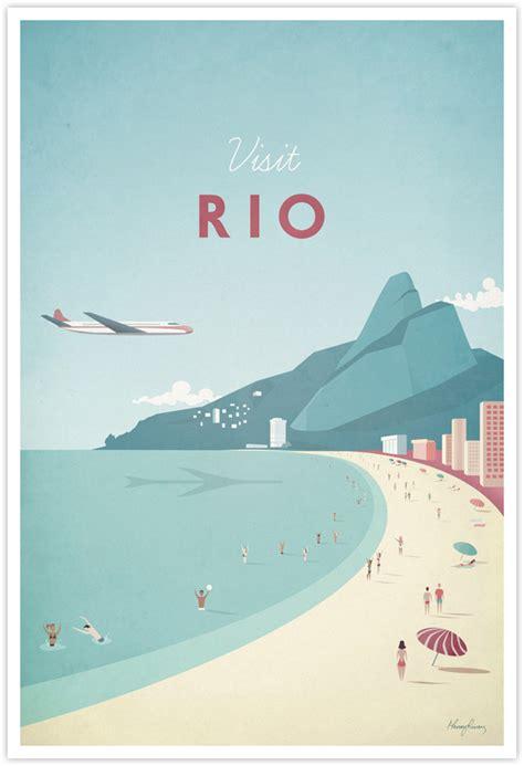 rio vintage travel poster travel poster