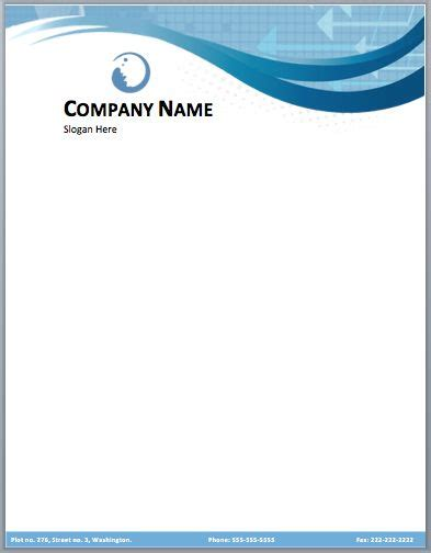 business company letterhead template  small medium