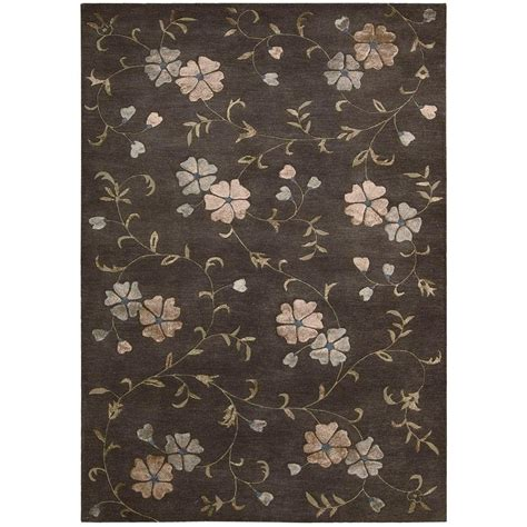 www overstock rugs nourison overstock oasis charcoal 8 ft x 11 ft area rug