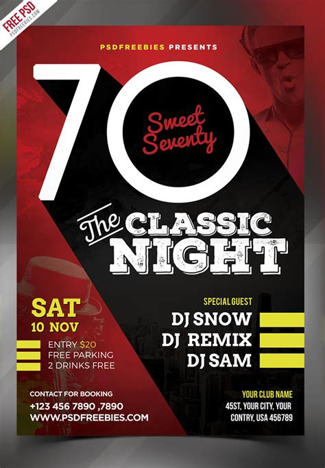 classic event party flyer psd psdfreebiescom