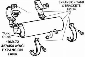 1969-72 427  454 Expansion Tank - Diagram View