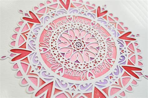mandala paper cutting template dandelion alley the paper cutting marketplace 187 love