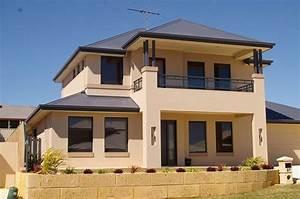 Exterior, Colour, -, Exteriors, -, Double, Storey, House, Designs