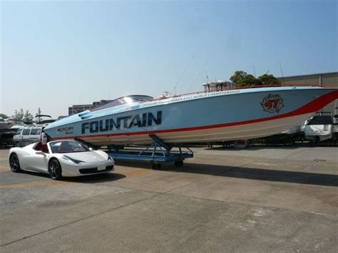 Fountain Boats Used by Fountain Powerboats 47 Lightning Stern Drive Used Boat In