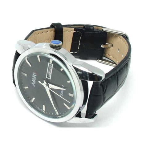 Jam Tangan Guess Kulit Black nary jam tangan analog kulit 1901 black silver