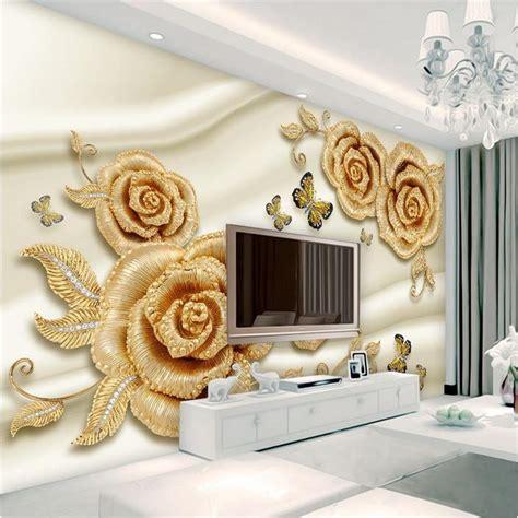 wallpaper photo wallpaper custom mural living room gold