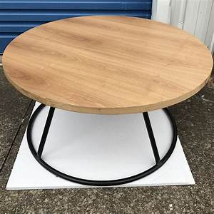 industrial round coffee table With industrial style round coffee table