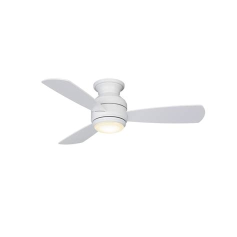 white 3 blade ceiling fan shop fanimation studio collection level 44 in matte white