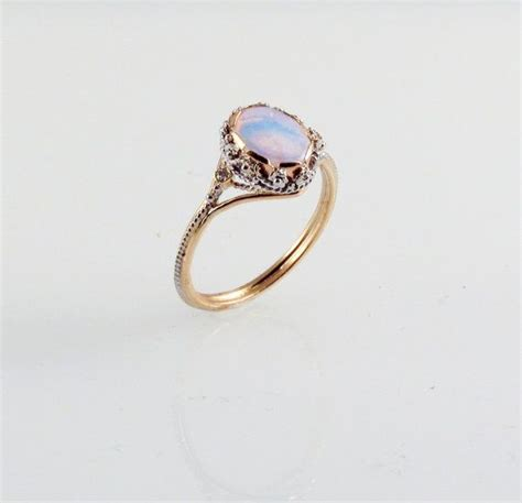 opal dream ring in 14k gold bling jewelry dream ring