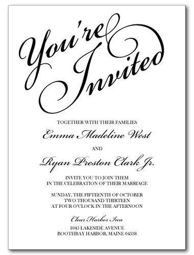 Wedding Invitations You're Invited Invitation in 2020