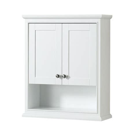 bathroom wall mounted storage cabinet white