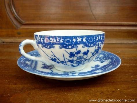 peinture pour porte de cuisine service à thé japonais bleu et blanc