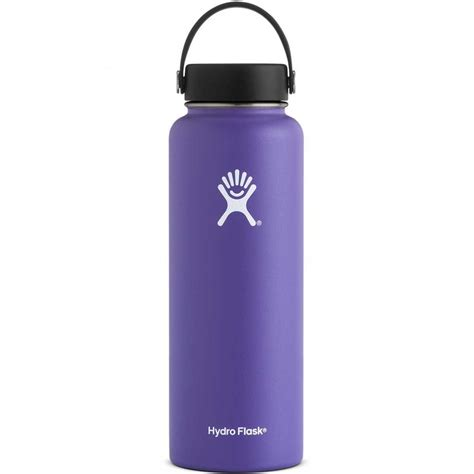 hydro flask  oz wide mouth insulated bottle plum