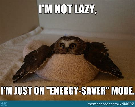 Funny Lazy Memes - i m not lazy i m just on quot energy saver quot mode by kriki007 meme center