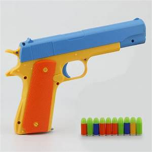 Magazine Toy Gun Pistol & 10 Soft Bullets Colt 1911 Rubber ...